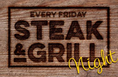 Grill Night Special Offer - 2 mains & glass of wine for £30*